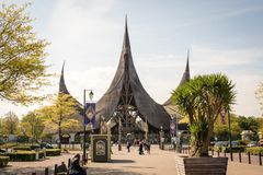 入口主题乐园De Efteling, Kaatsheuvel,荷兰, 11-05-2017 免版税库存图片