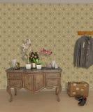 入口内部大厅墙纸 免版税图库摄影