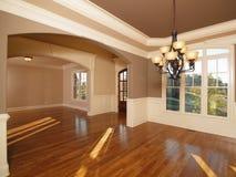 入口前家庭内部豪华模型房间 免版税图库摄影