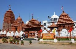 入口前海得拉巴jagannath puri寺庙 免版税库存图片