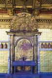 入口加德满都尼泊尔swayambunath寺庙 免版税库存图片