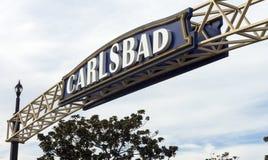 入口向卡尔斯巴德在加利福尼亚 库存图片