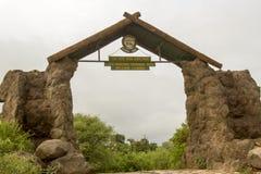入口向曼雅拉湖国家公园, Tanzaniz 免版税库存图片