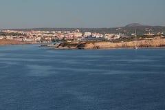 入口向海湾 马翁,梅诺卡岛,西班牙 库存图片