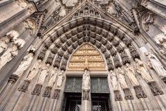 入口向科隆大教堂Dom 科隆,北莱茵-威斯特伐利亚州,德国 库存图片