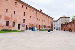 入口在拉韦纳,意大利国家博物馆  免版税库存图片
