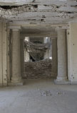 入口在Darul阿门洲宫殿,阿富汗 库存照片