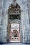 入口在Suleymaniye清真寺-伊斯坦布尔,土耳其 免版税库存照片