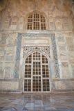 入口对Taj Mahal的门廓大理石 库存照片