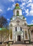 入口教会保佑的维尔京圣洁假定拉夫拉基辅乌克兰 免版税库存照片