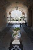 入口有历史的意大利宫殿treviglio 免版税库存照片