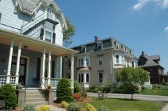 入口有历史的房子 免版税库存图片