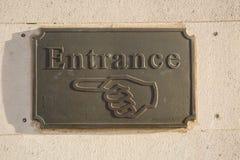 入口标志 库存图片