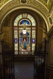 入口楼梯,装饰艺术博物馆,布拉格,捷克 免版税库存图片