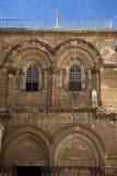 圣墓教堂入口 免版税库存照片