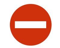 入口禁止的符号 免版税图库摄影