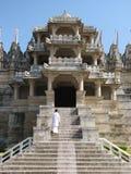 入口耆那教的寺庙 免版税库存照片