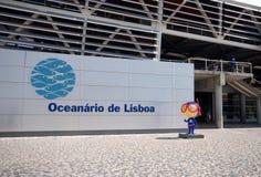 入口里斯本oceanarium葡萄牙 库存照片