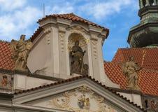 入口门的非常上面对斯特拉霍夫修道院的,布拉格,捷克 免版税库存图片