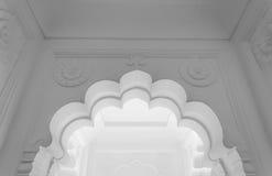入口门细节在Meherangarh堡垒的(黑白) 库存图片
