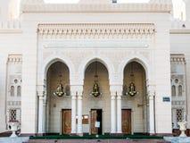 入口Jumeirah清真寺,迪拜 库存图片