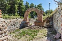 入和Diocletianopolis, Hisarya,保加利亚镇古老热量浴的里面视图  免版税库存照片