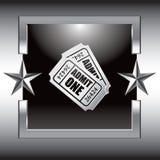 入场框架银星形票 库存例证