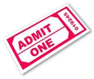 入场票 向量例证