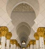 入扎耶德Mosque,阿拉伯联合酋长国回教族长走道  免版税库存图片