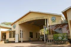 入有标志的,恩戈罗恩戈罗保护区,坦桑尼亚门 库存图片