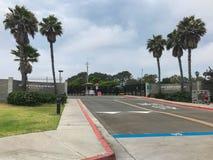 入标志对海军航空兵驻地北岛在加利福尼亚 库存照片