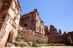 入Kasbah Telouet,中央摩洛哥,北非门在高地图集的 免版税库存图片
