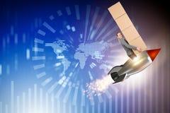 全世界全球性送货业务的妇女 免版税库存图片