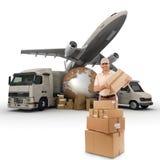 全世界公司的运输 免版税库存图片