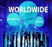 全世界国际地球网络连接概念 免版税库存照片
