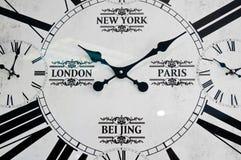 全世界城市clockface 免版税库存图片