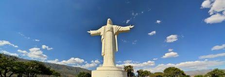 全世界最大的耶稣雕象,科恰班巴玻利维亚 库存图片