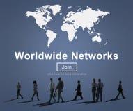 全世界网络连接全球化技术概念 免版税库存图片