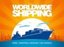 全世界船舶设计。 库存例证