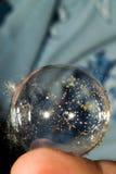 全世界,在一小肥皂泡 免版税库存照片