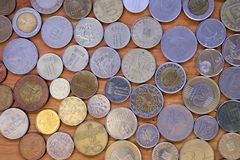 全世界货币 库存图片