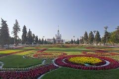 全俄国会展中心,莫斯科,俄罗斯 Ladnscape设计 库存照片