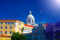 全国万神殿-圣诞老人Engracia教会在里斯本, 免版税库存图片