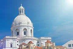 全国万神殿-圣诞老人Engracia教会在里斯本, Portuga 图库摄影