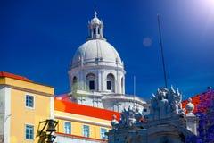 全国万神殿-圣诞老人Engracia教会在里斯本, Portuga 库存照片