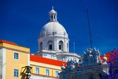 全国万神殿-圣诞老人Engracia教会在里斯本 库存照片