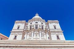 全国万神殿-里斯本,葡萄牙- XVII世纪巴落克式样chur 库存照片