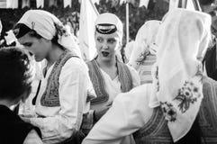全国主权和儿童`的s波斯尼亚的民间舞蹈天-土耳其 免版税库存照片