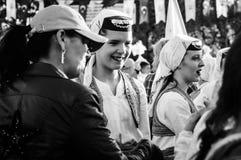 全国主权和儿童`的s波斯尼亚的民间舞蹈天-土耳其 免版税图库摄影