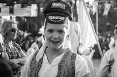 全国主权和儿童`的s波斯尼亚的民间舞蹈天-土耳其 库存照片